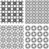 Seamless patterns set with semicircular elements
