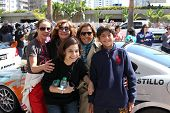LOS ANGELES - APR 14:  Kate del Castillo, family, friends at the 2012 Toyota Pro/Celeb Race at Long