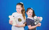If You Carry Your Childhood You Actually Never Get Older. Kids Cute Girls Play With Soft Toys. Happy poster