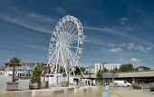 Ferris Wheel Against Blue Sky On Bournemouth Promenade, Dorset On England South Coast poster