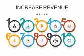 Increase Revenue Infographic Design Template.raise Prices, Reduce Expenses, Best Practices, Strategy poster