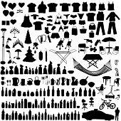 Vector Household Items Set