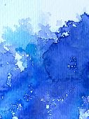 Blue Watercolor on Textured Paper 5