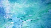 Blue and Turquoise Watercolor Background 1