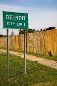 Detroit  Michigan City Limit Sign