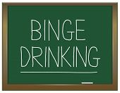 picture of bing  - Illustration depicting a green chalkboard with a binge drinking concept written on it - JPG