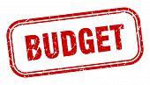 Budget Stamp. Budget Square Grunge Sign. Budget poster