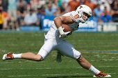 PASADENA, CA. - SEP 17: Texas Longhorns WR Jaxon Shipley #8 in action during the NCAA Football game