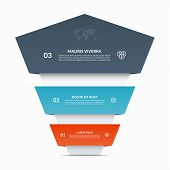 Up Arrow Infographic Banner. Business Growth Vector Concept With 3 Steps, Options, Parts. poster