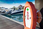 Sos First Aid Kit, On Marina Harbor .