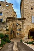 Typical South France Stone Walled Housing At Barjca Occitanie France During A Warn Sunny Spring Day poster
