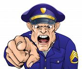 Policial com raiva