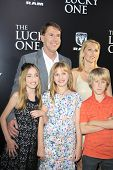 LOS ANGELES - APR 16: Nicholas Sparks, family at the premiere of Warner Bros. Pictures' 'The Lucky O