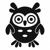 Adorable Owl Icon. Simple Illustration Of Adorable Owl Vector Icon For Web Design Isolated On White  poster