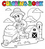 Coloring book farm theme 3 - vector illustration.