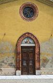 St Maria en la iglesia de la Cortina. Piacenza. Emilia-Romagna. Italia.