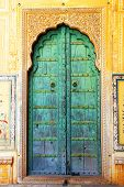 stock photo of courtier  - Traditional door in Nahargarh Fort - JPG