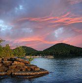 Sunset On Cave Run Lake Kentucky Usa