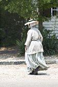 Historical Interpretor In Colonial Attire