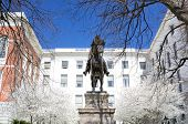 picture of hooker  - Joseph Hooker Statue at the Massachusetts State House in Boston - JPG
