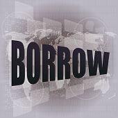 Pixeled fundo financeiro na tela Digital - Borrow