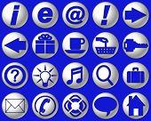 Bright Blue Glass Website Buttons