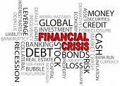 Financial Crisis Word Cloud Illustration