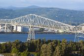 Lewis And Clark Bridge Over Columbia River