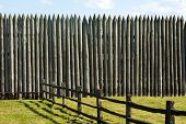 Pallisade On A Pioneer Fortification Of Fort Vancouver