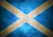 Grunge Scottish Flag