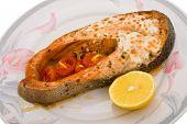 Salmon Baked In Mayonnaise