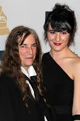 LOS ANGELES - FEB 9:  Patti Smith arrives at the Clive Davis 2013 Pre-GRAMMY Gala at the Beverly Hil