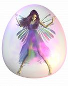 Purple Fairy in a Bubble