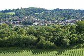 View Over Dorking. Surrey. England