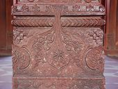 Indian Carving Detail On Pillar