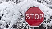 Stop Carefully Snow Journey Is Limited