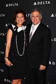 LOS ANGELES - FEB 7:  Julie Chen, Les Moonves arrives at the Celebration of LA's Music Industry reception at the Getty House on February 7, 2013 in Los Angeles, CA