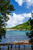 Muelle viejo e Isla vista