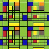 art vintage geometric pattern background in Mondrian style
