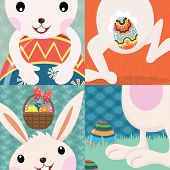 Retro Easter Day Bunny