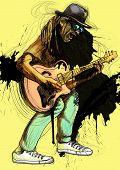 crazy guitarist