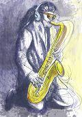 pic of sax  - Saxophonist - JPG