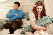 pic of love hurts  - Quarrel and hurt two loving home - JPG