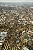 Aerial view of Railway, South London
