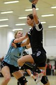 SIOFOK, HUNGARY - FEBRUARY 9: Annamaria Bogdanovic (R) in action at a Hungarian National Championshi