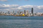 Downtown Seattle Panorama On A Sunny Day