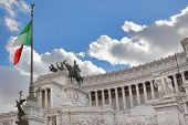 Famous Victor Emmanuel II (Vittorio Emanuele II) monument also known as Altar of the Fatherland with