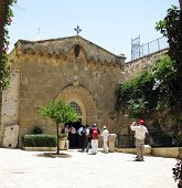 Via Dolorosa.  Church Of The Crown Of Thorns. Jerusalem,