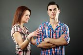 Young Woman Angry With Her Husband