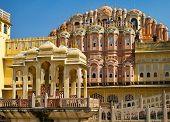 JAIPUR, INDIA - NOV 18: The famous landmark Hawa Mahal on a sunny day on November 18, 2012 in Jaipur,India. Hawa Mahal so-called, Palace of Breeze, is a UNESCO World Heritage.